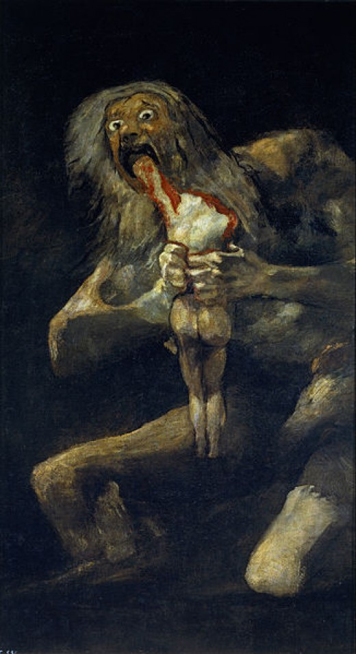 Saturn devouring His Children, Goya, a bit EXTREME INTERPRETATION.... BUT.....