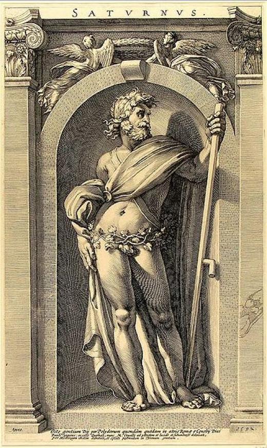 Saturnus/Saturn by Polidoro da Caravaggio