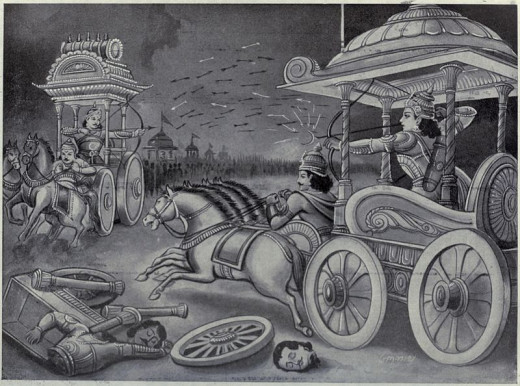 Abhimanyu on the Kurukshetra War Field