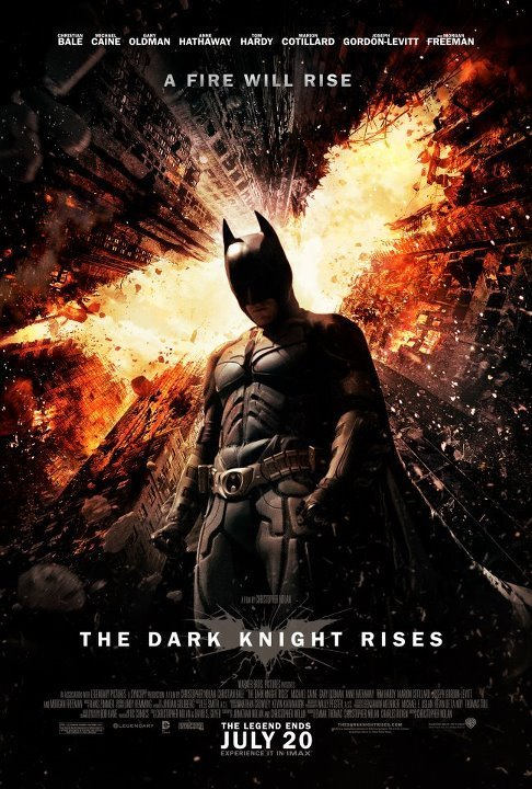 The Dark Knight Rises movie poster.