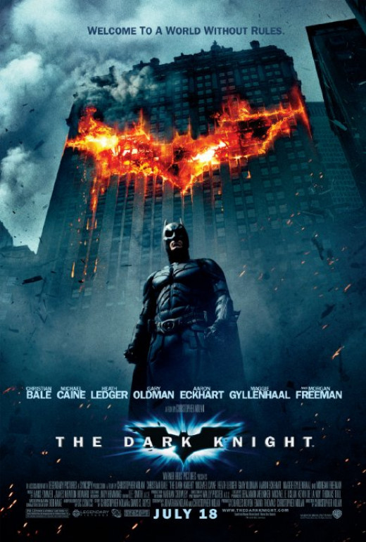The Dark Knight movie poster.
