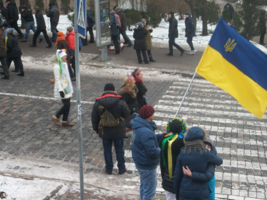 Students and working class people were the main protesters on Maidan initially.