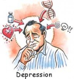 Image of someone depressed. This article is about depression in the elderly. It says that depression is not a normal part of aging.