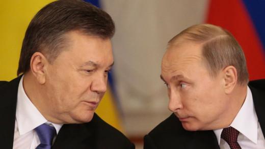 Victor Yanukovich and Vladimir Putin