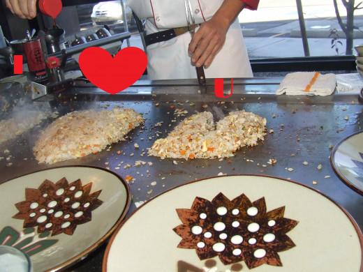 Chef Chu Creates The I heart U Rice.