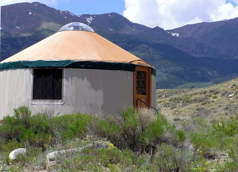 A modern American yurt in Colorado