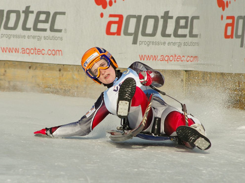 Michaela Maurer, luger for Germany at the FIL European Luge Natural Track Championships 2010.