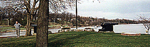 The point of land between the Auglaize River on the right, looking down the Maumee River; it runs to the left and beyond toward Ft. Wayne