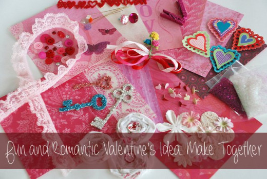 Why not craft together for Valentine's Day? This is a fun and romantic activity you can do with your partner, but most things you can make do well with your children as well! Making something together is great bonding time.