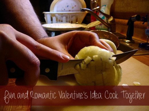 Cooking together can be incredibly fun and it makes a fantastic date for you and your valentine. Put this to good use and make it a romantic night of cooking up something special!