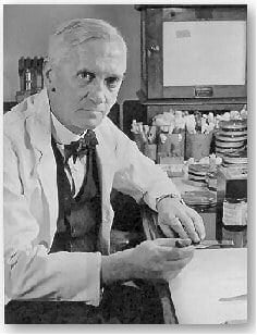 Early years and discovery of Penicillin, image of Alexander Fleming.