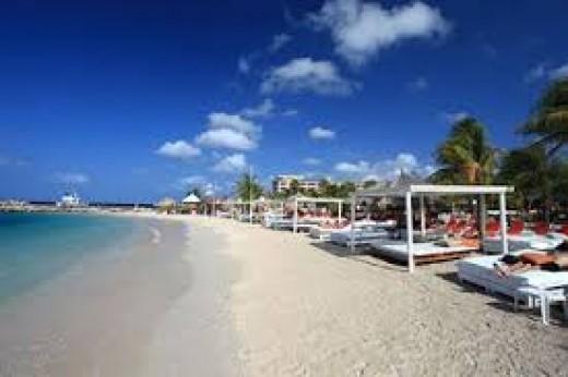 Nice  cabanas on the beach