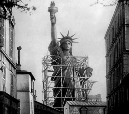 The Statue Of Liberty During Its Construction In France.