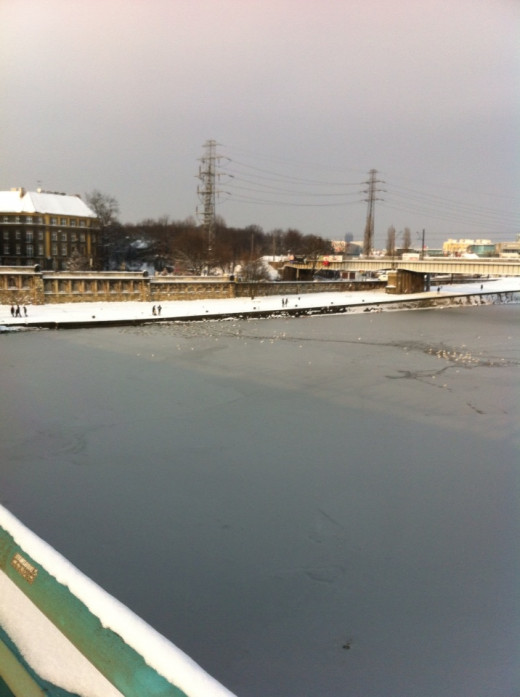 Frozen river Vistula