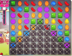 Candy Crush Level 86 - Destroy the Pyramid of Blockers