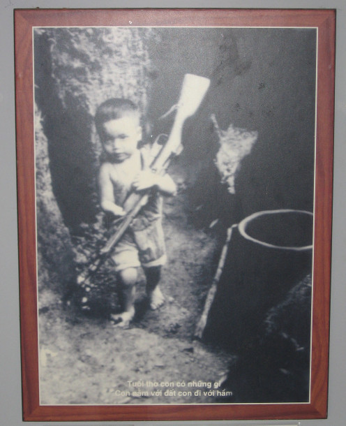 The reality of war games - Taken in the museum at the Vinh Moc Tunnels