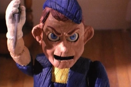 Screenshot from 1996 cult horror masterpiece, Pinocchio's Revenge