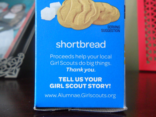 Shortbread Girl Scout cookies
