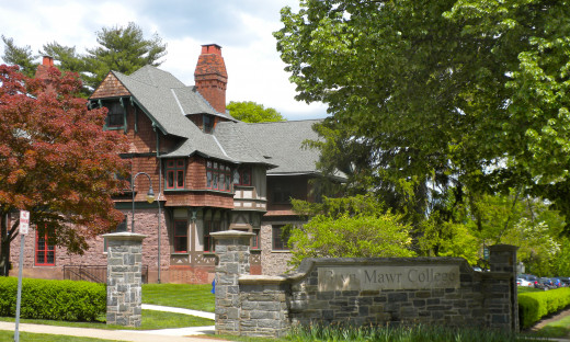 The Entrance to Bryn Mawr College Today