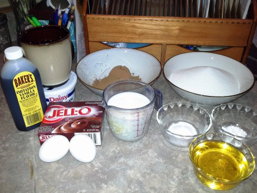 Ingredients for Chocolate Cake