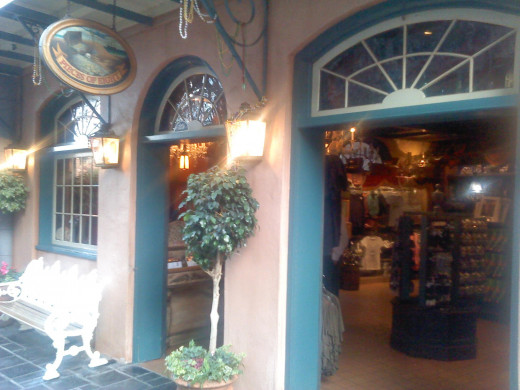 Stores in New Orleans Square