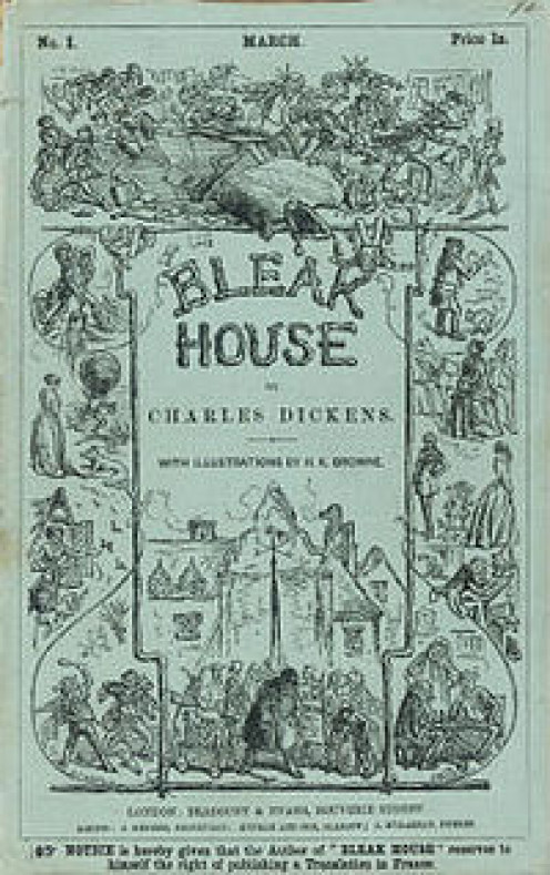 The cover of the first serial, 1852