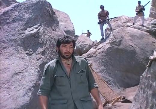 Amjad Khan in Sholay as famous Gabbar Singh.
