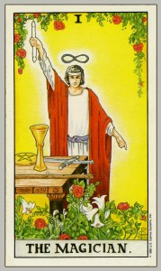 """The most common Tarot card for """"The Magician."""""""
