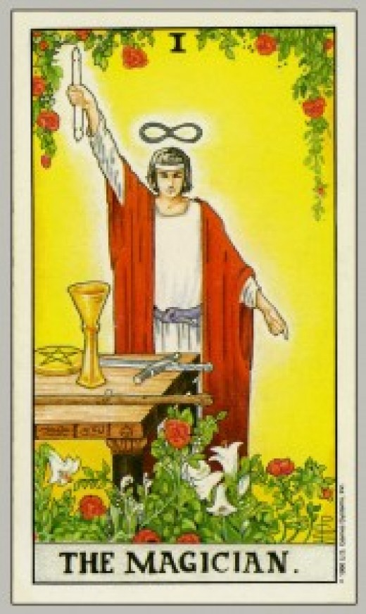 "The most common Tarot card for ""The Magician."""