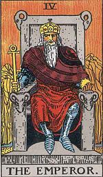 """The most common Tarot card of """"The Emperor."""""""