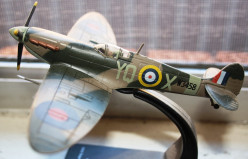 A model of the famous fighter, the Spitfire.