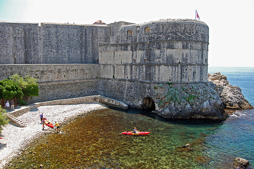 A starting point of sea kayaking in Dubrovnik