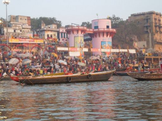 The holy river of the Hindus, the River Ganges