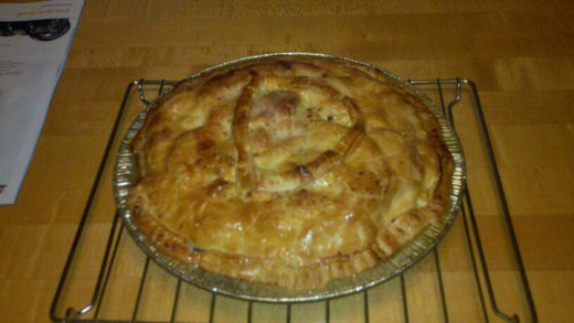 "We made an apple pie and added our own ""D"" initial."