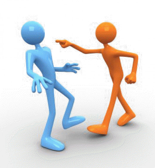 When someone is talking at you their aggressive speak may as well be a jabbing finger in your chest.