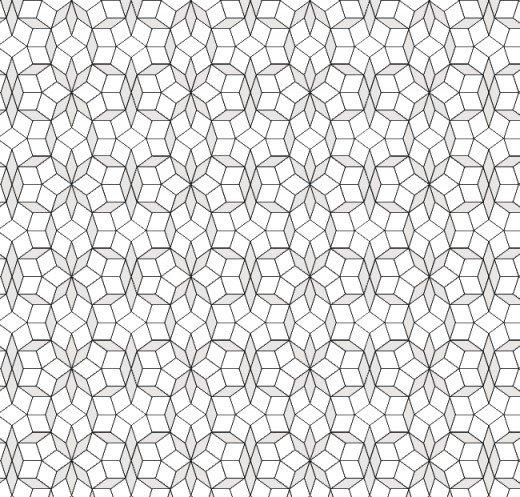 Periodic rhombus tiling with Penrose tiles