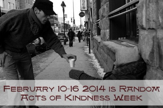 February 10th - 16th 2014 is Random Acts of Kindness Week.