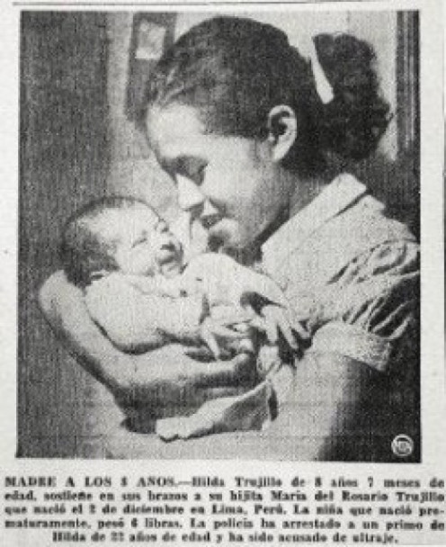 Hilda Trujillo cuddling her daughter