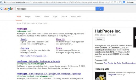 Search Engine Result Page(SERP) preview