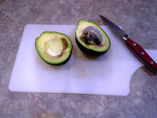 Step Four: Cut your avocado in half around the pit
