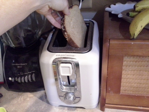 Step Eleven: Pop your bread into the toaster