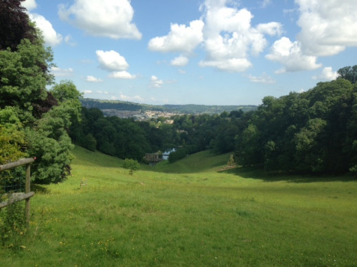 A view of Bath from Prior Park.  Bath, UK