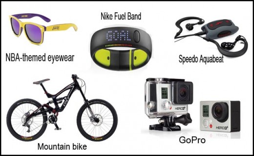 Awesome accessories/gadgets for the sports and fitness buff.