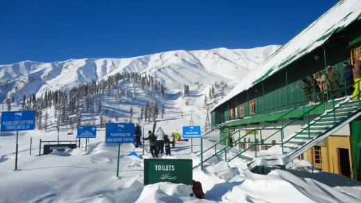 A Skiing Centre In Gulmarg.