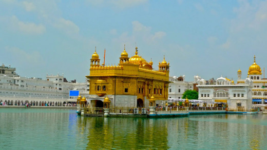 The Golden Temple And The 'Holy Pool Of Nectar'.