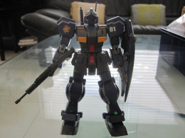 Here is an example of a 1/144 scale gunpla. In this case, it is the RGM-79q Quel, which appeared in Gundam 0083.