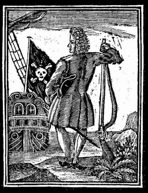 Engraving of Stede Bonnet from A General History of the Pyrates