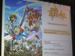 During Sunrise's presentation, they displayed information about Gundam Build Fighters.