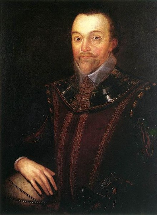 Sir Francis Drake in Buckland Abbey 16th century, oil on canvas, by Marcus Gheeraerts the Younger