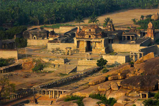 The Snapshot Of A Temple In Hampi.